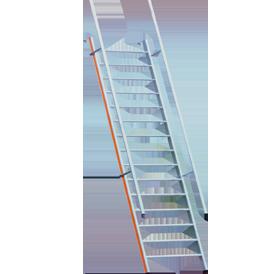 Leiter mit Handlauf