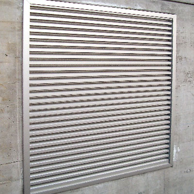 Profillamellengitter Fassadengitter Wetterschutzgitter