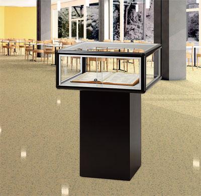 tischvitrinen aus glas oder alu glaskonstruktion alumhaus gmbh. Black Bedroom Furniture Sets. Home Design Ideas